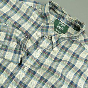 Gitman Bros Vintage Cream Blue Plaid Sport Shirt